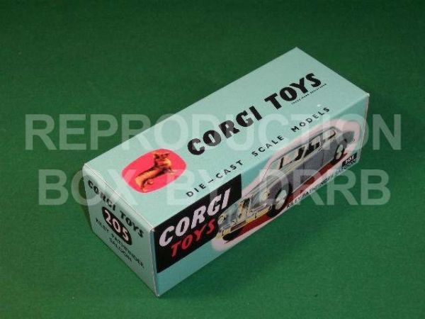 Corgi #205 Riley Pathfinder Saloon - Reproduction Box
